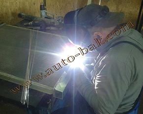 Ремонт радиатора грузового автомобиля MAN