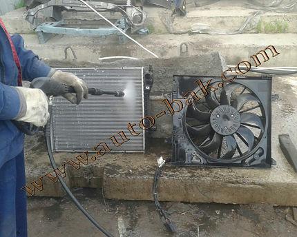 Снятие + мойка радиатора охлаждения автомобиля Jaguar (Ягуар)