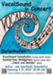 2019.11.02 Plakat Konzert Sing deinen So