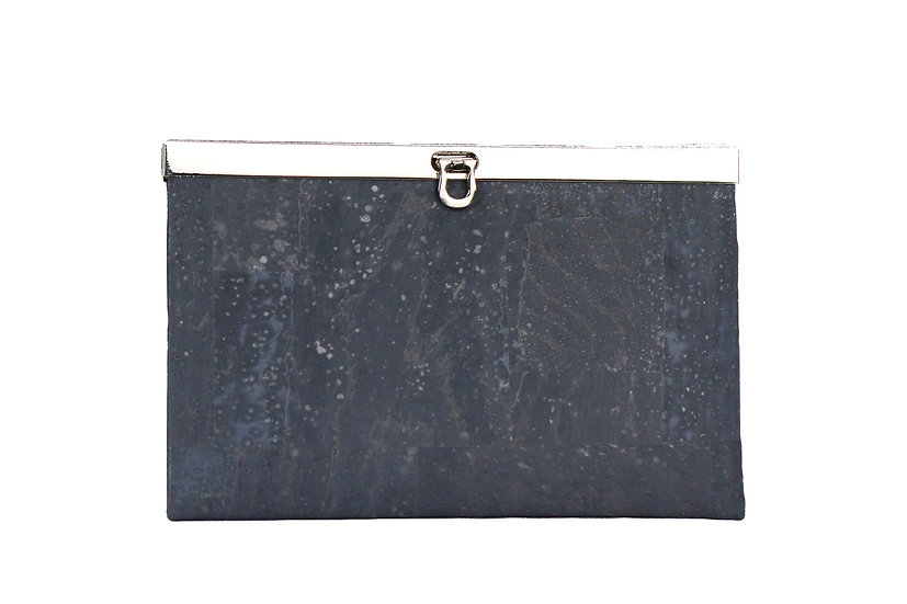 Metal-trimmed Clutch Wallet