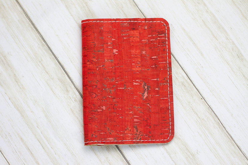 Red Cork Passport Cover
