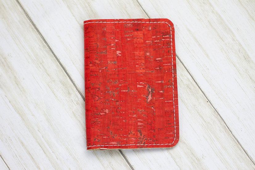 Red Cork Passport Cover