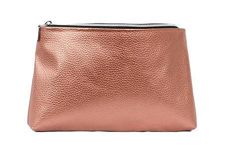 Faux leather makeup pouch