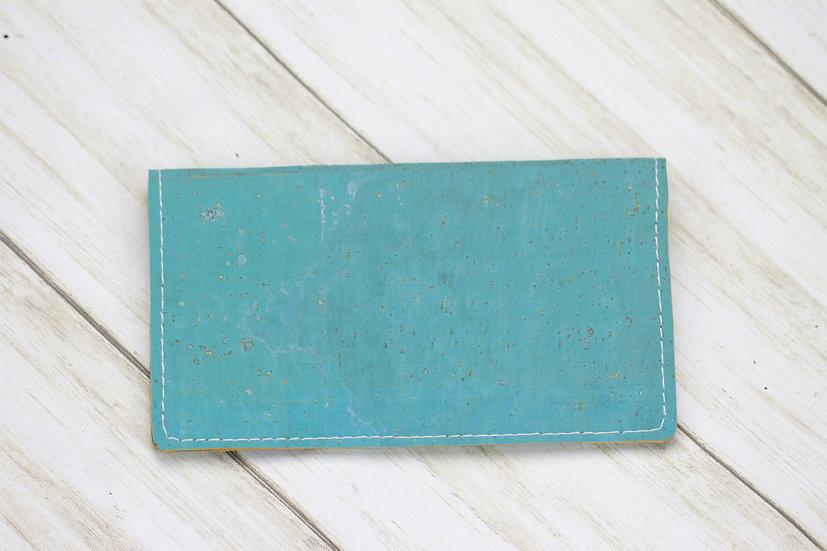 Blue Cork Checkbook Cover