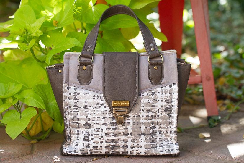 Angled-accent Handbag