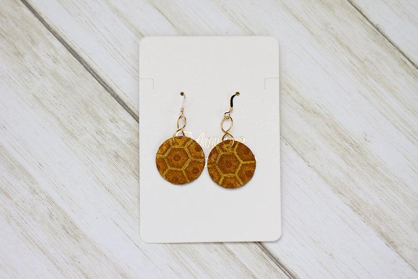 Honeycomb Circle Hook Earrings