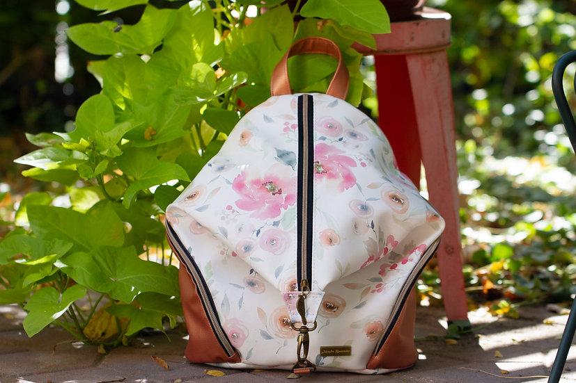 Pastel Floral and Copper Mini Denver Backpack