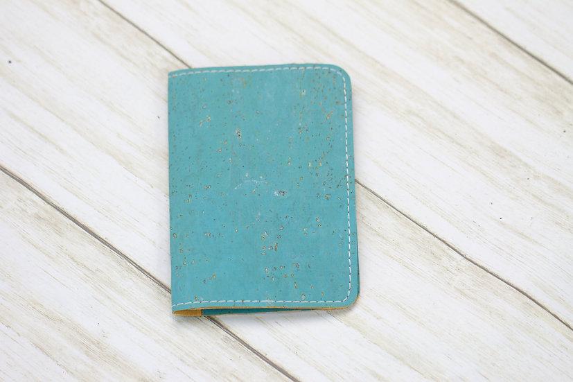 Blue Cork Passport Cover