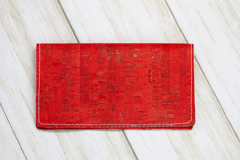 Red Cork Checkbook Cover