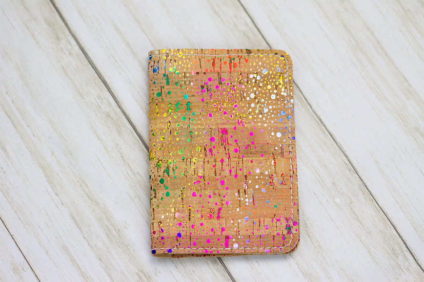Rainbow Cork Passport Cover