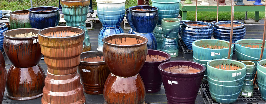 Pottery, pots and planters