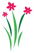 Flowers in logo