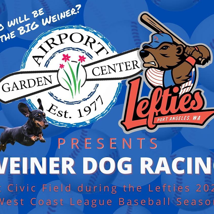 Weiner Dog Racing at Lefties Baseball