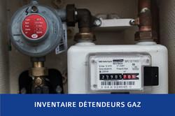 Inventaire détendeur gaz