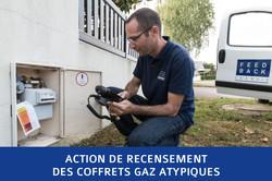 Recensement des coffrets gaz