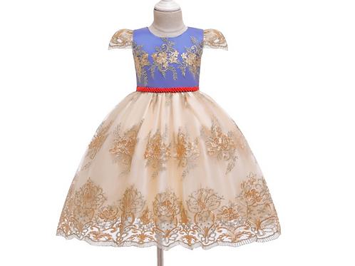 Lace Trim Princess Dress