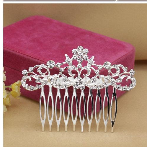 Silver Mini Bride Hair Comb