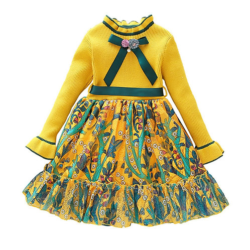 Girls Sweater Skirt Princess Dress