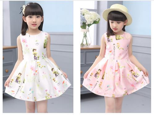 Girls Sleeveless Princess Dress