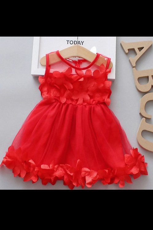 Cotton Soft Mesh Toddler Dress