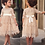 Thumbnail: Girls Short Sleeve Lace Mesh Dress