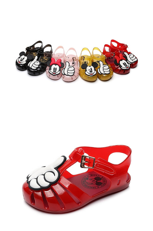 2019 New Minised Brand Girls Jelly Shoes