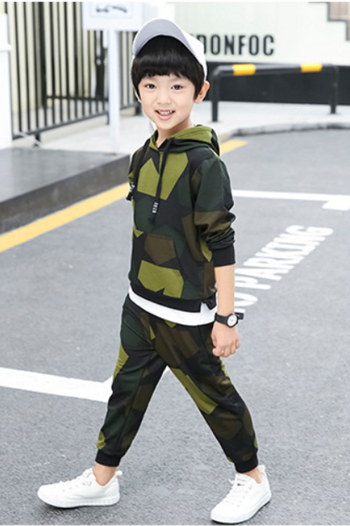 Boys Camouflage Two-Piece Set