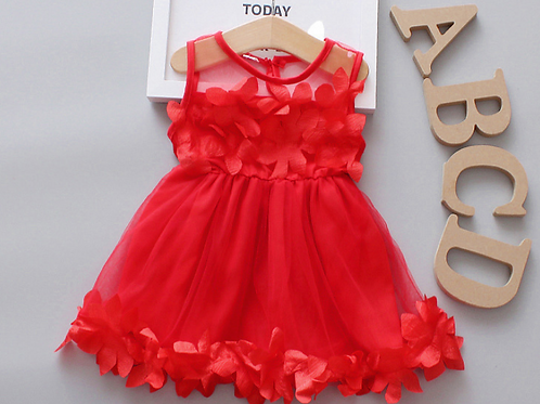 Cotton Vest Baby Girl Dress