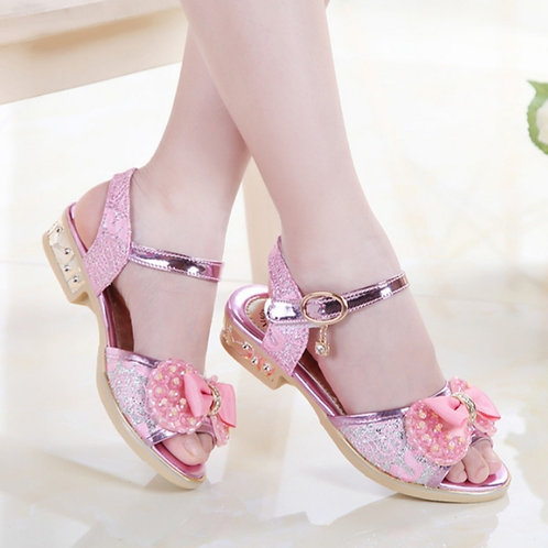 Girl's Rhinestone Effect High Heeled Shoes