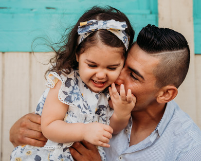 Father and daughter photo shoot