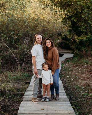 Family photo shoot on the walkway