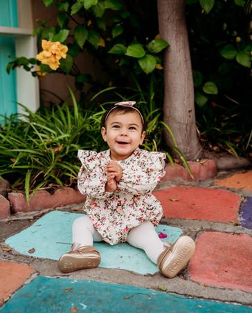 Little girl smiling for the camera