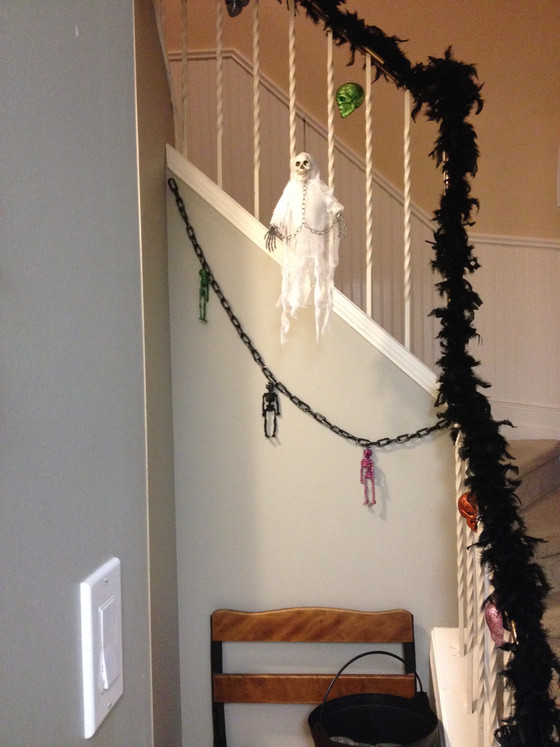 Spooky and Sparkly Staircase for Halloween