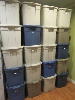 Basement Storage Bins