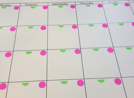 DIY Kids' School/Schedule Whiteboard