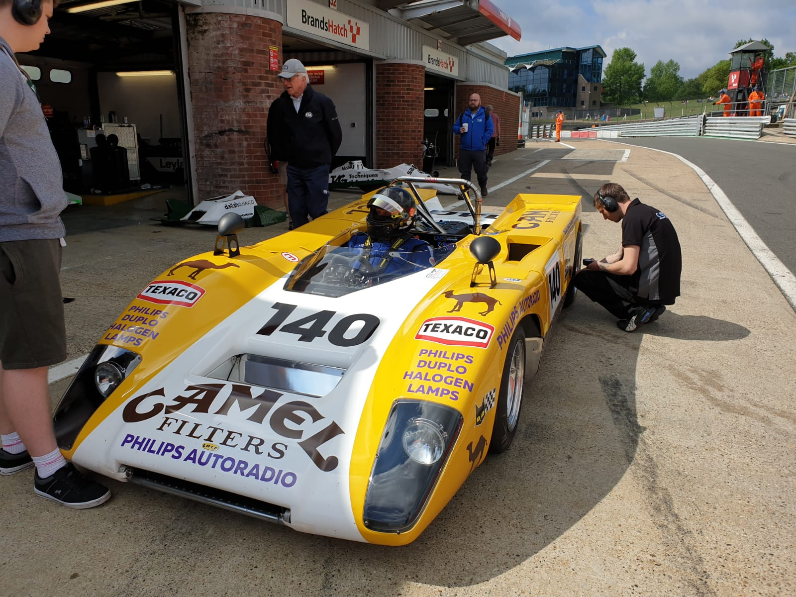 Goncalo Gomes and James Claridge Lola T2