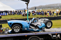 Lola T70 destroyed at Goodwood