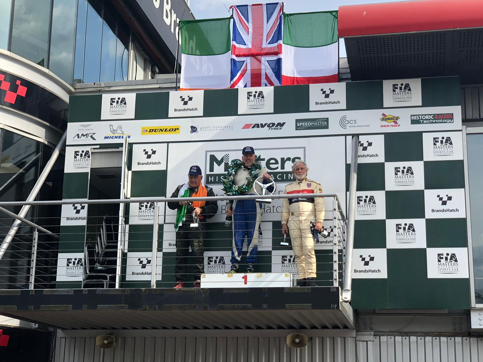 Masters FIA Historic F1 Podium 2019