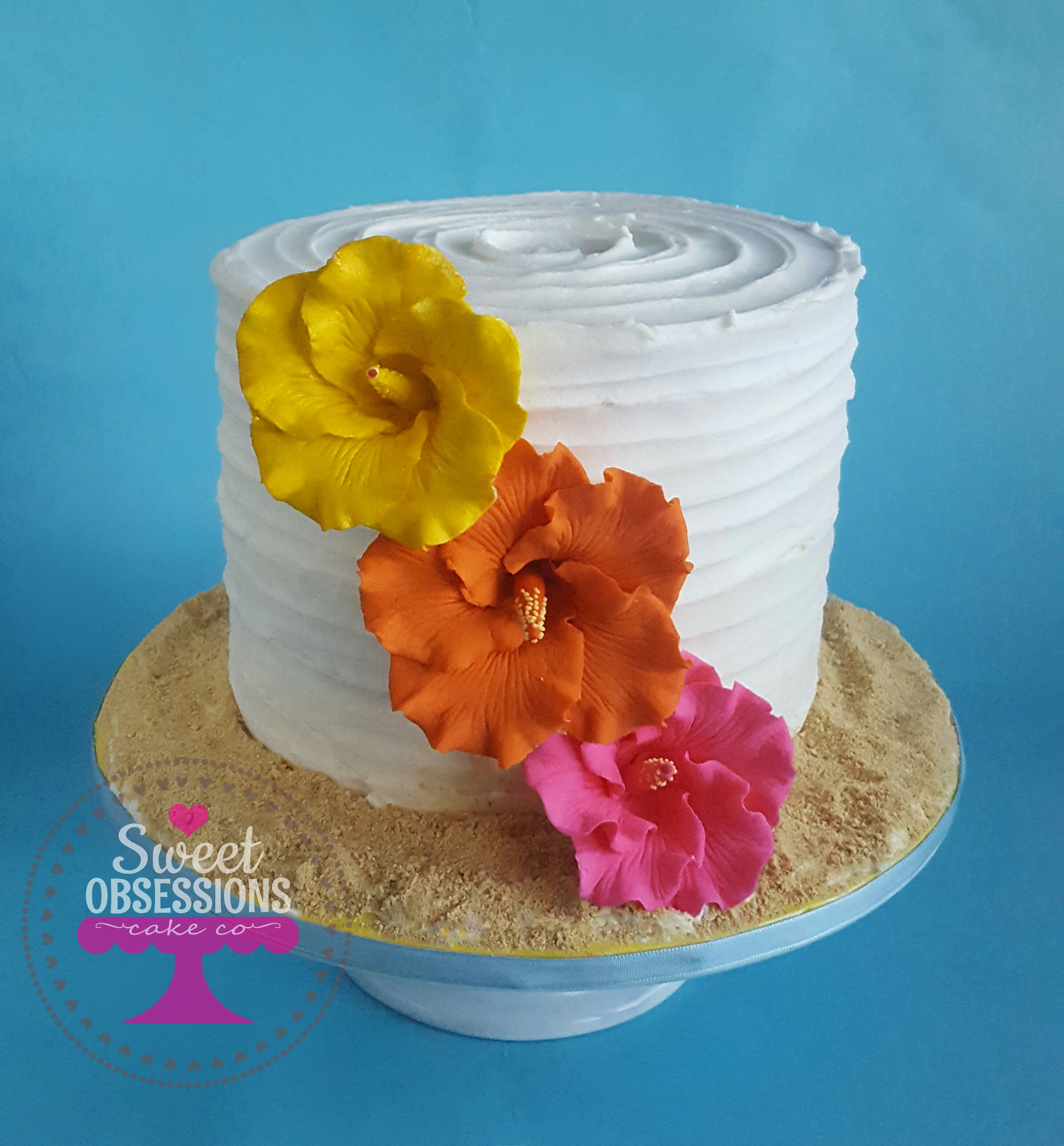 Hawaiian Theme Cake