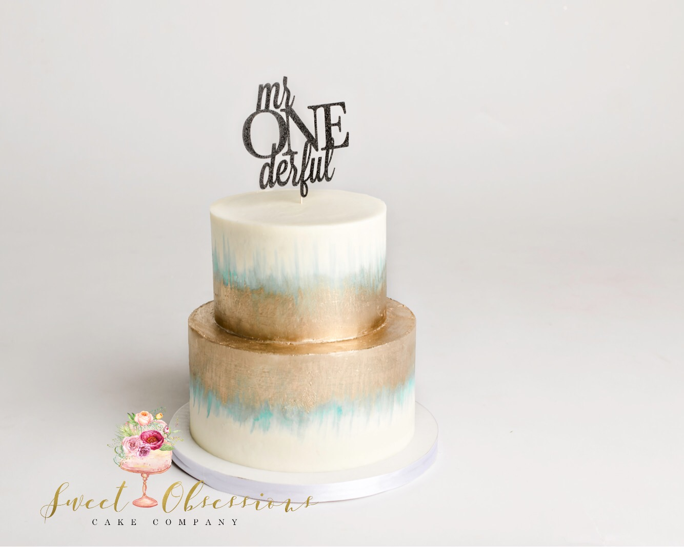 ONEderful First Birthday Cake