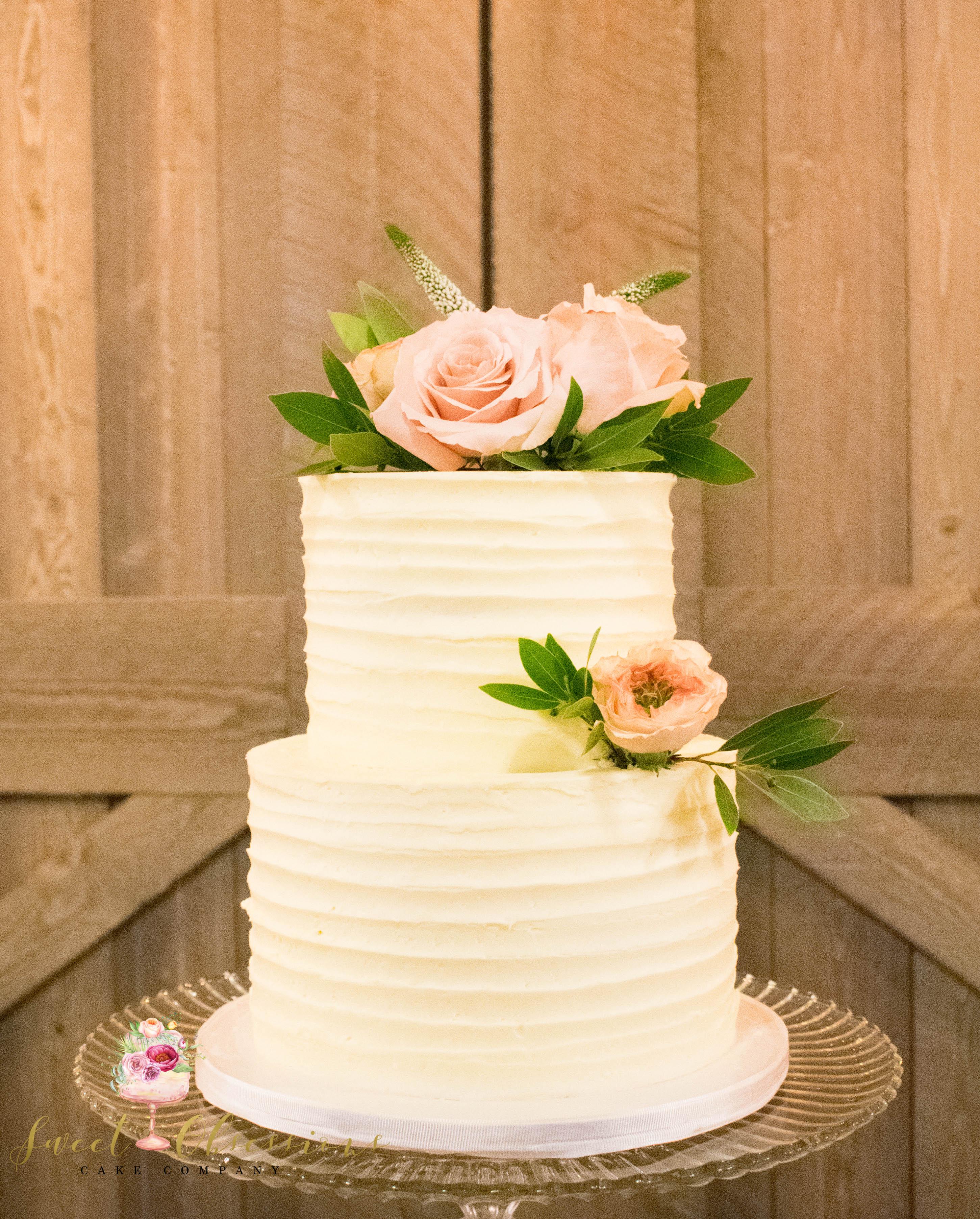Simple Texture Wedding Cake