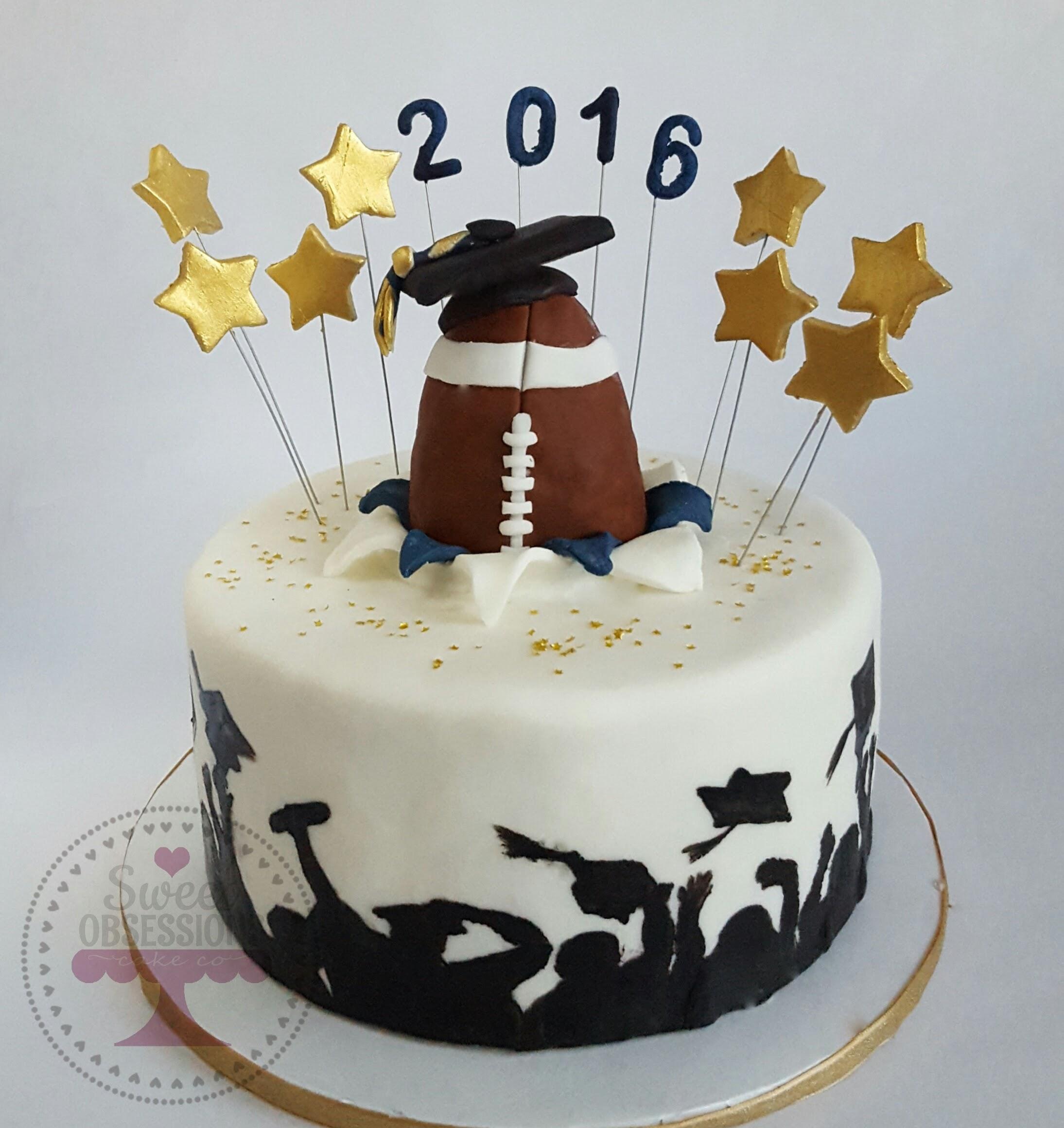 Football Grad Cake