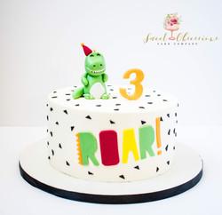 Dinosaur Theme Cake