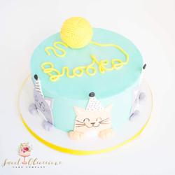 Cat First Birthday Cake