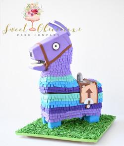 Loot Llama Fortnite Cake