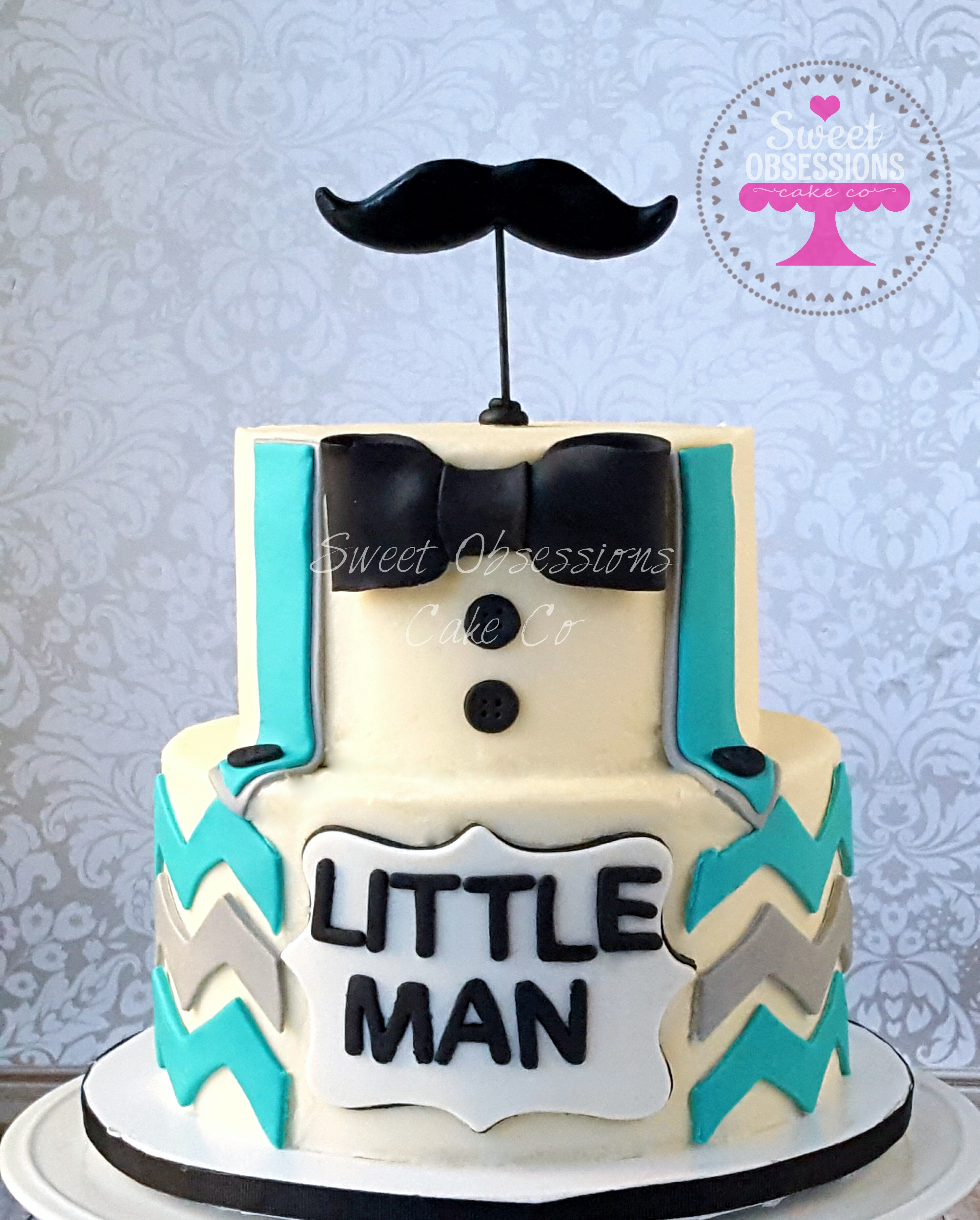 Little Man Baby Shower Cake