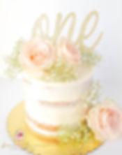 Seminaked Smash Cake