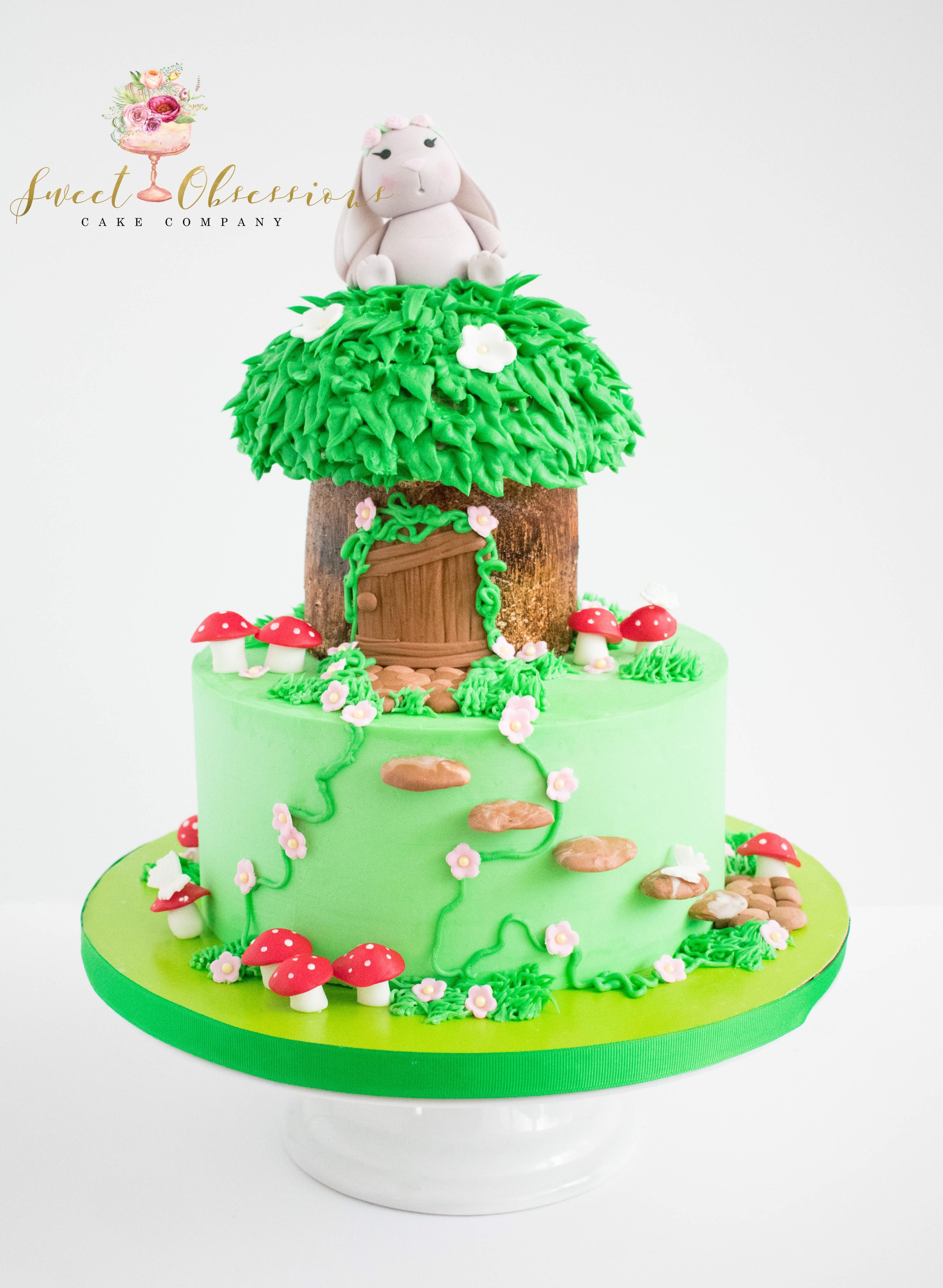 Fairy Garden Theme Cake