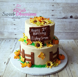 Fall Theme First Birthday