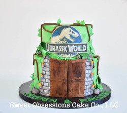 Jurassic World Theme Cake